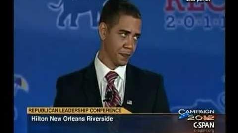 Obama Impersonator at Republican Leadership Conference