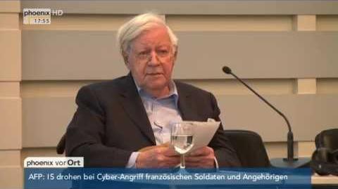 """""""Neue Wege bis 67"""" Rede von Helmut Schmidt zu """"Arbeiten im Alter"""" am 09.04"""