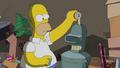 Homer Pours Beer Into Bender