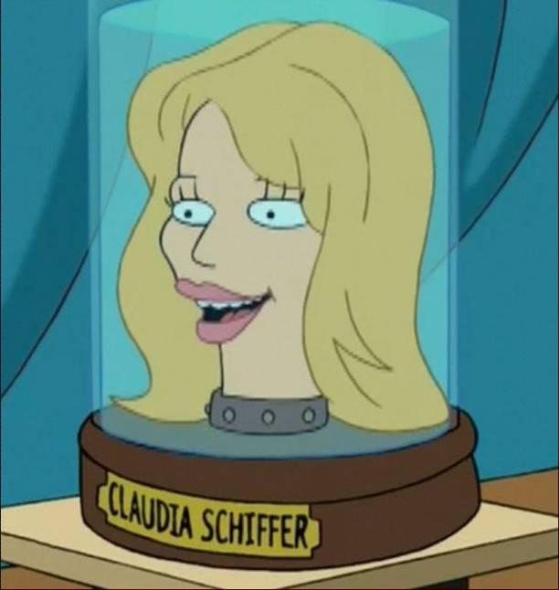 Claudia Schiffer's head