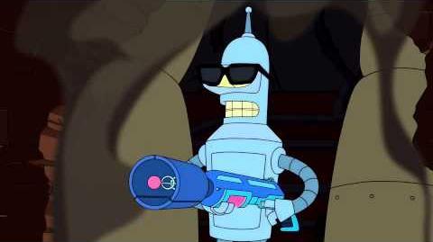Futurama - Bender Terminating Humans