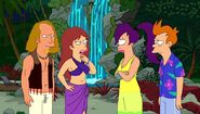 Darlene meeting Fry and Leela