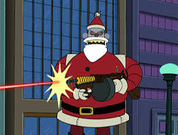 Santa Claus is Gunning You Down
