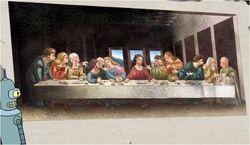 Bender retrieves The Last Supper