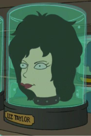 Elizabeth Taylor's head