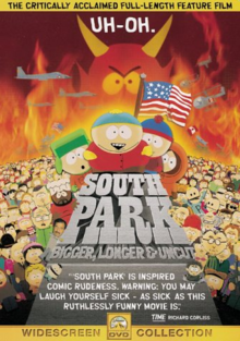 South Park Bigger, Longer & Uncut 1999 DVD Cover.PNG