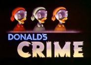 Donald's Crime 1945 Title Card