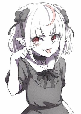 Akanbe (あかんべえ, Akanbē), also spelled Akkanbee (あっかんべー, アッカンベー), is a Japanese facial gesture indicating sarcasm but also used as a taunt. It consists of someone pulling down one's lower eyelid to expose the red underside towards someone, often accompanied by the person sticking their tongue out.