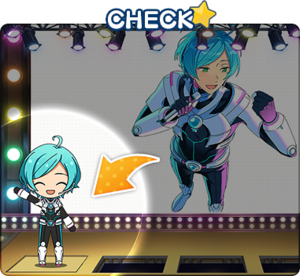 character appearing on stage