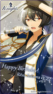 Happy Birthday Ritsu Sakuma Wallpaper