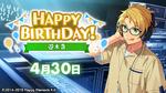 Makoto Yuuki Birthday 2020 Twitter Banner