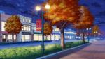School Route (Autumn) (Night - Bright) Full