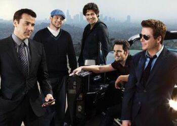 The DVD cover for the seventh season of Entourage