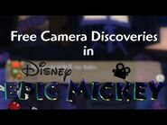 Free-Camera Discoveries in Epic Mickey