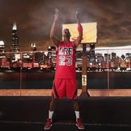 Michael Jordan Tossing Chalk