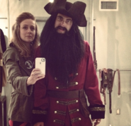 Sulai Lopez with Blackbeard
