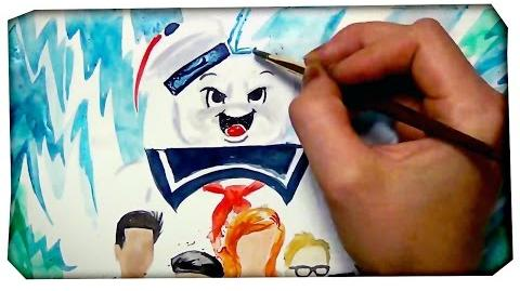 Ghostbusters VS Mythbusters time lapse painting - by Mary Doodles