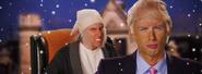 Donald Trump vs Ebenezer Scrooge Banner