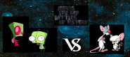 Zim and gir vs pinky and the brain