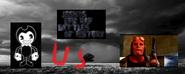 Bendy vs hellboy