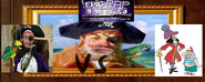 Patchy and potty vs captain hook and mr.smee