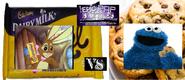 The cadbury caramel bunny vs cookie monster