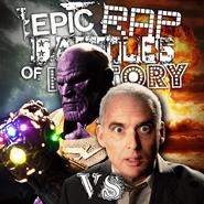 Thanos vs J. Robert Oppenheimer Alternate Cover 2