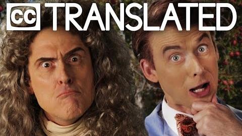 TRANSLATED Sir Isaac Newton vs Bill Nye. Epic Rap Battles of History