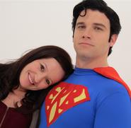 Josie Ahlquist with Superman
