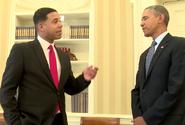 Iman Crosson with Barack Obama
