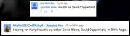 David Copperfield vs Harry Houdini Suggestion