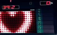 Heart in the scoreboard Ice Hockey Rink