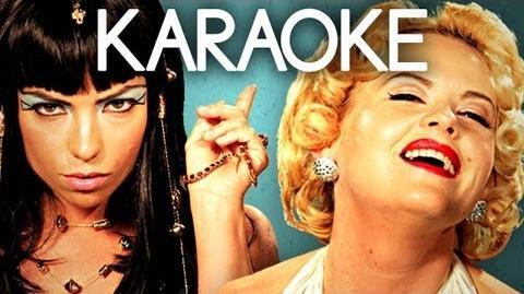 KARAOKE ♫ Cleopatra vs Marilyn Monroe. Epic Rap Battles of History