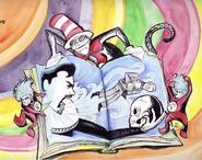 Dr. Seuss vs Shakespeare Drawing