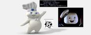 The pilsbury dough boy vs the stay puft marshmellow man