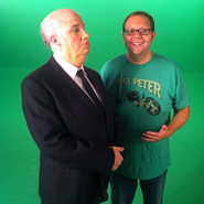 Mike Betette with Alfred Hitchcock