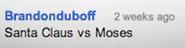 Moses vs Santa Claus Suggestion