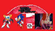 Rouge and sonic vs roger and jessica