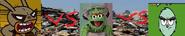 The flea vs oscar the grouch vs yuck