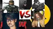 Hideo kojima vs alan moore featuring solid snake and rorshach