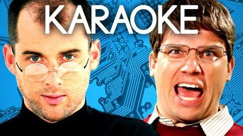 KARAOKE ♫ Steve Jobs vs Bill Gates. Epic Rap Battles of History