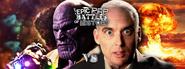 Thanos vs J. Robert Oppenheimer Facebook Banner