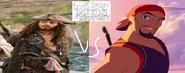 Jack sparrow vs sinbad