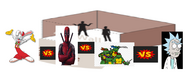 Roger rabbit vs deadpool vs tmnt vs rick sanchez