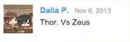 Zeus vs Thor Suggestion