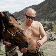 Shirtless Putin picture full sized