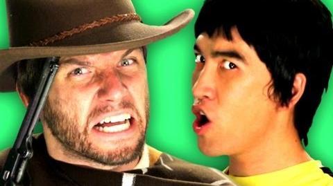 Epic Rap Battles of History - Behind the Scenes - Bruce Lee vs Clint Eastwood-0