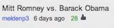 Barack Obama vs Mitt Romney Suggestion