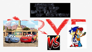 Sonic and sally acorn vs lightning mcqueen and sally carrera