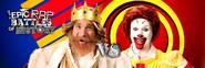 Ronald McDonald vs The Burger King Twitter Banner
